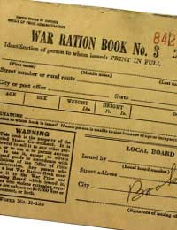 United States Rationing Ration Books